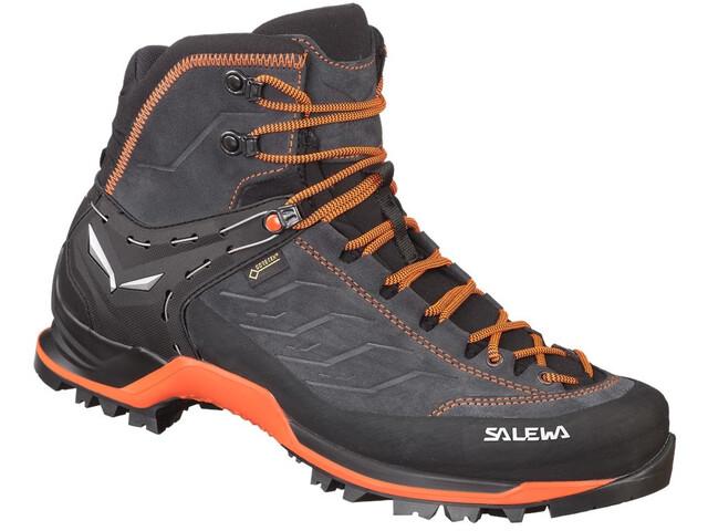 SALEWA MTN Trainer Mid GTX Zapatillas Hombre, asphalt/fluo orange